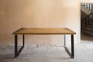 Tavolo In Ferro E Legno : Tavoli delamont