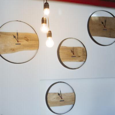 Orologio a muro in legno - Industrie Delamont