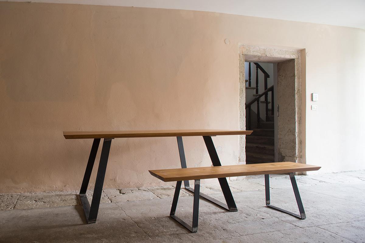 Tavolo in larice - Delamont