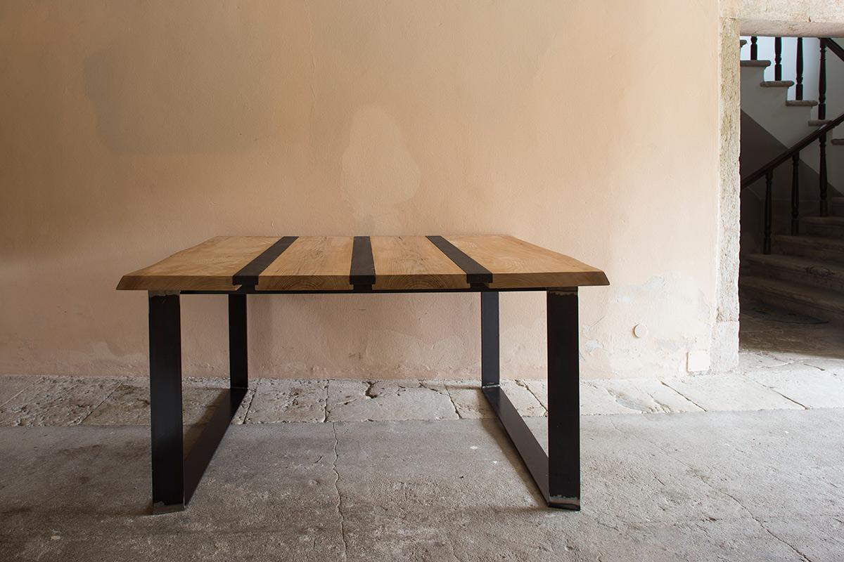 Tavolo in lego di olmo - Delamont