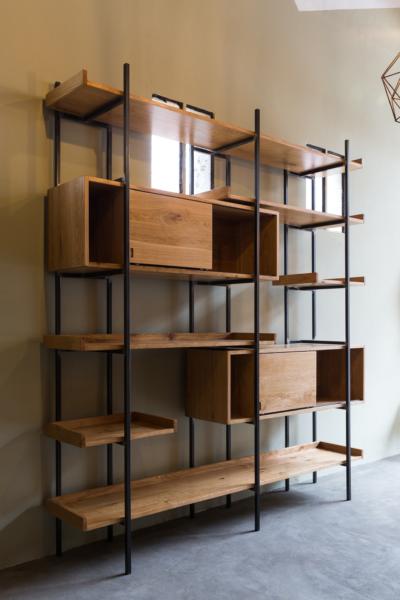 T-library (libreria modulare in ferro nero) Industrie Delamont - Polcenigo