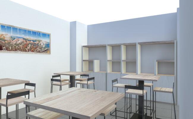 Render - Tavolini e sgabelli personalizzati - Industrie Delamont