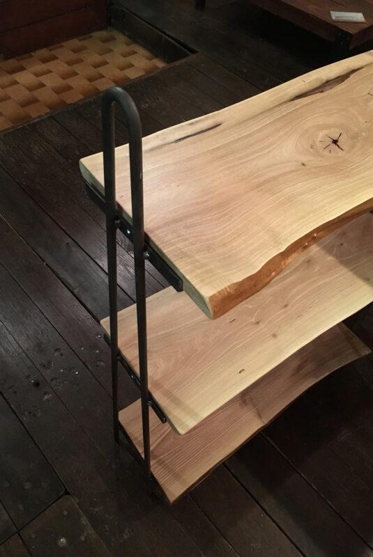 libreria piccola personalizzata in legno e ferro - Industrie Delamont
